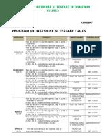 Program de Instruire Si Testare SU - 2013