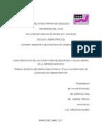 Raquel, Barroso y Jiménez. Caracterización de Las Condiciones de Seguridad y Salud Laboral