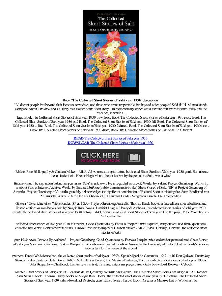 +free+ The Collected Short Stories Of Saki Year 1930  Link,,bezpośrednibuch Sklep Internetowy Bas Prix Billig,kaufensconto   Short Stories  Amazon