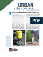 Choosing a Pump for Rainwater Harvesting