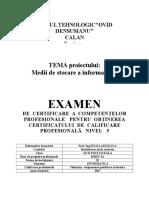 Medii de Stocare a Datelor - Rusalinescu Anda