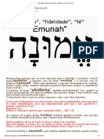 Arqueologia e Teologia _ Alethéia, Veritas e Emunah