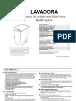 Manual Lavadora Samsung electronica modelo W