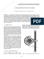 a novel band pass filter using parallel and direct end coupling