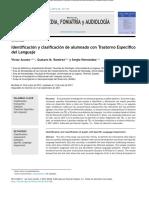 1Identificación y clasificación de alumnado con Trastorno Específico del Lenguaje. Acosta, Ramírez, Hernández - copia.pdf