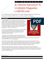 Tim Verbeek Chooses Successor To Lead LA Lifestyle Magazine, LA2DAY.com