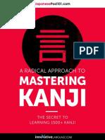 Mastering Kanji 1500