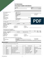 TPI Personal Data Form (Adiasya Satria - Procurement Staff)