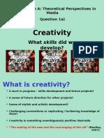 G325 SecA Creativity