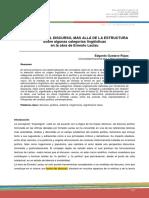 La Política y El Discurso, Más Allá de La Estructura, E. G. Rojas