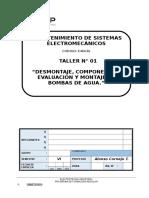 T-01-G Desmontaje, Componentes, Evaluación y Montaje de Bombas de Agua.