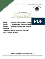 4 Excercices de l'Analyse Diagnostique Financiere
