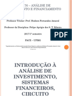 Sistema Financeiro e Mercado de Capitais - Analise de Investimento e Financiamento