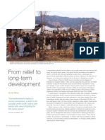 From relief to long-term development