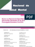 Nueva Ley Nacional de Salud Mental Ley 26657 (ESQUEMA)