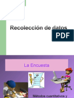 Recoleccion de Datos y Tabulacion