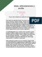 Articulaciones y Arcilla