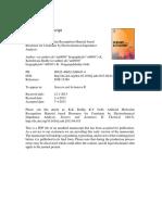 Artificial Molecular Recognition Material Based Biosensor for Creatinin