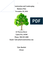 bartlett construction and landscaping business plan