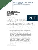 Legres - Legal Memo - Cover Letter