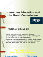 Christian Education and the Great Commission
