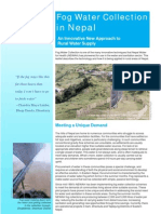 Fog Water Collection in Nepal Brochure