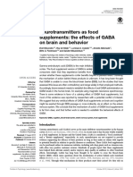Effects of GABA on Brain and Behaviour