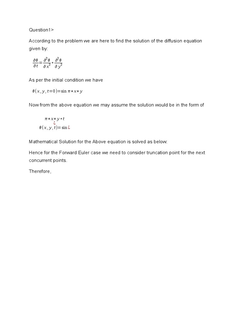 Document Hw4 | Partial Differential Equation | Differential