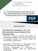 El Nuevo Modelo Educativo en Las Universidades Politécnicas