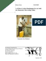 Low cost handpumps for water extraction from below ground water tanks - Rainwater Harvesting
