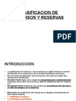 Clasificacion de Recursos y Reservas