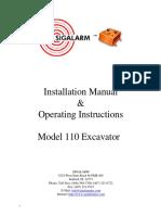110 Excavator Installation_2010 Final