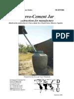 The ferrocement jar - Rainwater Harvesting