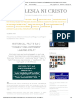 April 03, 2017 - The IGLESIA NI CRISTO_ Primary Sources at Historical Facts and Dapat Panghawakan Tungkol Kay Kapatid Na Felix Y