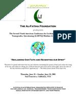 Al-Fatiha Conference Program Book - San Francisco (June 2001)
