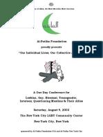 Al-Fatiha NYC Conference Program Book (August 2003)