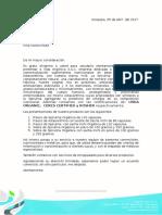 Carta de Presentacion productos organicos