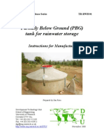 Partially-below-ground tank for rainwater storage - Rainwater Harvesting