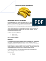 elaboraciOn de banano deshidratado