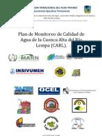 9-Plan de Monitoreo de Calidad de Agua en La CARL