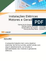 TRABALHO MOTORES E GERADORES -Instalações Elétricas- 2016.1.pptx