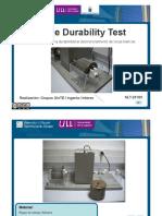 TEMA17-Slake Durability Test