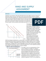 Demand and Supply Assignment