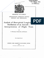 UK ARC - Analysis of Short Period Longitudinal Oscillations of an Aircraft