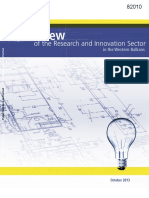 Overview of the Research and Innovation Sector in Western Balkans