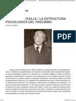Georges Bataille - La Estructura Psicológica Del Fascismo