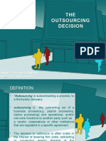 The Outsourcing Decision