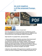 Potential risks and negative implications of the proposed Foreign Exchange Bill.docx