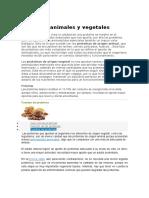 Proteínas Animales y Vegetales Para Yola