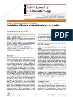 Modulation of Hepatic Steatosis by Dietary Fatty Acids